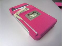 My iphone 4 n5 cases are now on sale in Pink, Blue, Red, Black, WHite, silver. #shapeways #money #clip #wallet #cardHolder #bottle opener