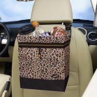Auto Litter Bag in Leopard Print by Talus Need one of these
