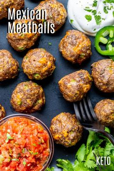 Mexican Keto Meatballs are a low carb appetizer made with ground beef, spices, jalapenos, and cheese. The perfect bite-size appetizer for Cinco de Mayo! Pork Recipes For Dinner, Mexican Food Recipes, Keto Recipes, Ethnic Recipes, Supper Recipes, Keto Foods, Asian Recipes, Mexican Meatballs, Keto Meatballs