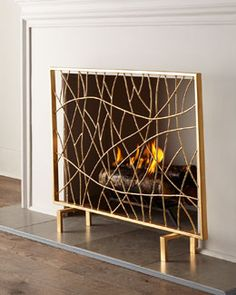 Sabrina Fireplace Screen | Fireplace screens, Screens and House