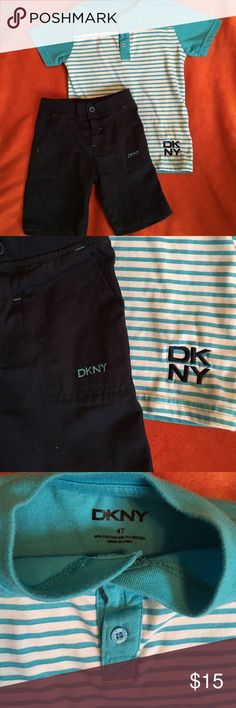 💕DKNY Shirt w/ shorts💕 💕EUC Shorts never wore💕 slightly used Shirt💕 No stains or damage💕 Smoke/Pet free home💕 DKNY Matching Sets