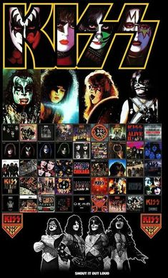 Rock Posters, Band Posters, Concert Posters, Kiss Rock Bands, Rock And Roll Bands, Kiss Images, Kiss Pictures, Paul Stanley, Pop Punk