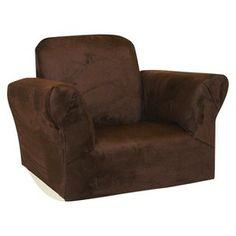 Newco Upholstered Kids Rocker Chair Chocolate Micro..target.com