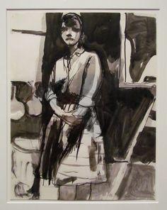 Richard Diebenkorn | Untitled, ca 1955. Ink on paper (1922-1993)