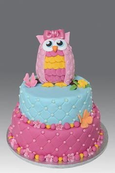 Pink Owl Cake (* my next Bday cake! One last year to be kiddish with the cake!*)