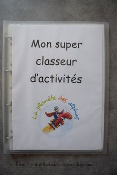 In my folder of the planet of the Alphas there are . documents to print - child baby leisure - - Montessori Education, Art Education, Nature Letters, French Language Lessons, Home Learning, Tot School, Busy Book, Activities For Kids, Alphabet