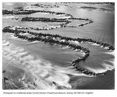 Black & white plate, Powerhouse Museum - Aboriginal fish traps effective and efficient technology.
