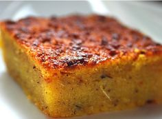Pone - Served in large thick squares, this is a mixture of cassava, sweet potato, pumpkin, raisins, sugar, essence and an assortment of spices such as nutmeg, cinnamon and a long sweet smelling bark the locals call 'spice'. Definitely the ultimate comfort food though not extremely sugary.
