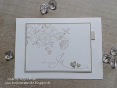 """Einladungskarten - Einladung zur Hochzeit """" Rose"""" - ein Designerstück von Tanjas-Kreativecke bei DaWanda"""