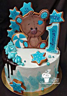 Фотография Buttercream Cake, Fondant Cakes, Cupcake Cakes, Toddler Birthday Cakes, Beautiful Birthday Cakes, Cake Topper Tutorial, Honey Cake, Birthday Cookies, Drip Cakes