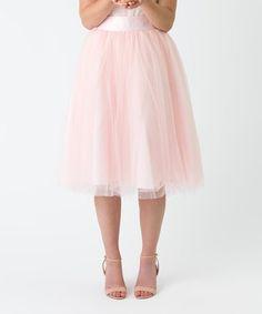 Pink Tulle A-Line Skirt #zulily #zulilyfinds