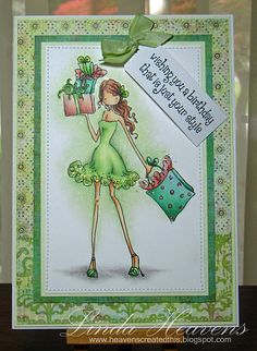 Stamping Bella: Uptown Girl Card by Linda Heavens (Heavens Created This) Girl Birthday Cards, Happy Birthday, Scrapbooking, Scrapbook Cards, Cool Cards, Diy Cards, Card Making Inspiration, Making Ideas, Art Impressions