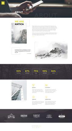 Antica — Multipurpose Business Agency/Personal Portfolio PSD Template - PSD Templates