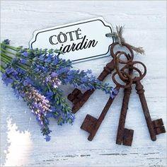 ✿⊱~♥♥Вдохновение каждый день!♥♥✿⊱~ Levander lavande lavender france purple provence cottage rustic Côté Jardin, Lavande et clés