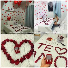 Romantic ideas by mel mel ks 💋 ❤ 💄 - musely Boyfriend Anniversary Gifts, Diy Gifts For Boyfriend, Birthday Gifts For Boyfriend, Romantic Surprises For Him, Romantic Room, Romantic Ideas, Diy Home Crafts, Love Gifts, Holidays And Events