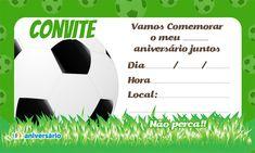 Convite de aniversário bola de futebol para impressão grátis. 123aniversário Convites e cartões de aniversário grátis para baixar