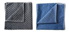 Japanese Chambray Pocket Square - Kaufmann Mercantile