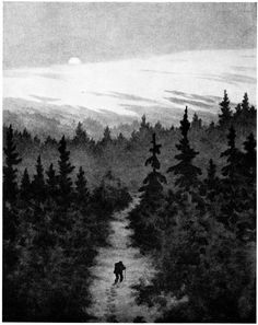 Image discovered by Waldpoesie. Find images and videos about forest and theodor kittelsen on We Heart It - the app to get lost in what you love. Most Popular Artists, Great Artists, Theodore Kittelsen, Folk, Art Database, Design Graphique, Norwegian Wood, Nature Paintings, Black Art