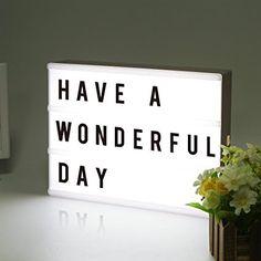 LitEnergy ~ gestaltbar LED Kino Leichte Box ~ Leuchten Ihrem Leben ~ Filmischen Licht-Box ~ Leuchtkasten mit flexiblen Buchstaben (silber - Farbe)