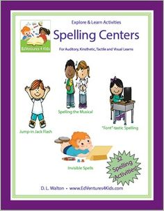 In a pinch? Tired of assigning the same old, same old spelling lessons? Students griping about writing spelling words 500 times? Bundled 32 Spelling Center Activities to the rescue. Become the spelling super hero as you dazzle your students and colleagues with these 32 spelling activities.