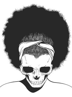 Ilustraciones que hablen de la muerte y tengan cráneos como tema principal hay cientos de ellas pero en el trabajo del ilustradorGerrel Saundersde Trinidad y Tobago destaca por enfocarse