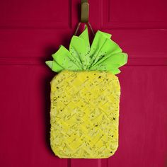 Pineapple bandana wreath - spring wreath - pineapple decor - DIY door wreath