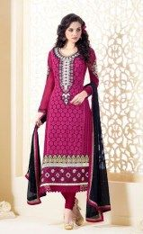 Magenta Color Designer Salwar Suit