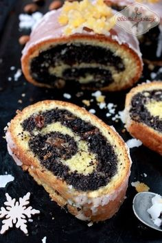 My Grandmother's Poppy Seeds,Raisins and Walnuts/Almonds Roll Polish Desserts, Polish Recipes, No Bake Desserts, Baking Recipes, Cake Recipes, Dessert Recipes, Holiday Baking, Christmas Baking, Poland Food