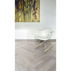 """CORETEC Naturals """" 50LVPEH855 Haze """" - Lames PVC en chevron clipsables Parquet Chevrons, Chevron Gris, Imitation Parquet, Lame, Pvc, Chair, Nature, Furniture, Home Decor"""
