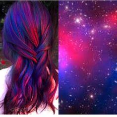 Galactic Sunset inspired hair color design by @rachellaroux13 hotonbeauty.com