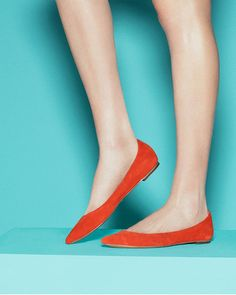 Christina flats in orange