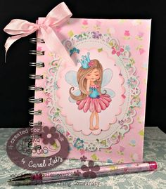 CLutzy Cards: Polkadoodles Serenity Princess Notebook