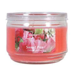 Mainstays 11.5 oz Jar Candle Sweet Pea, Pink