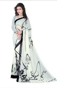 Bollywood-Saree-Fabric-Faux-Chiffon-Sari-Printed-Sari-Designer-Saree-Blouse-sari