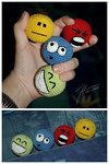 Adorable crocheted stress balls...