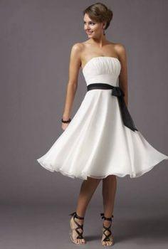 Robe Soiree Elegante Bustier Blanche Decollete MR3261