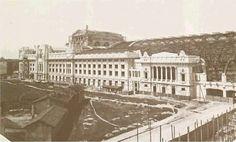 Stazione Milano Centrale _ Strutture in muratura e in acciaio verso il completamento (circa 1930)