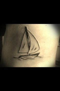 Sailing boat tatoo