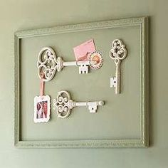 We could make something like this for the photo wall to go with the antique theme.