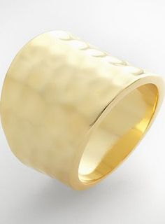 Gold Tone Hammered Ring - love!
