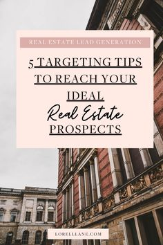 5 targeting tips to attract your ideal real estate prospects with my 5Ps checklist to guarantee your social media posts will show up to the right people that will convert in your sales funnel. Grow your real estate business through social media marketing today! Click to read the blog.