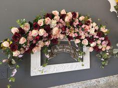 Wedding Arch Flowers, Wedding Ceremony Arch, Floral Wedding, Fall Wedding, Wedding Colors, Wedding Bouquets, Dream Wedding, Wedding Ideas, Indoor Wedding