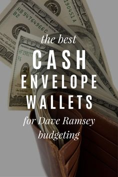 The best cash system envelope wallets for Dave Ramsey budgeting