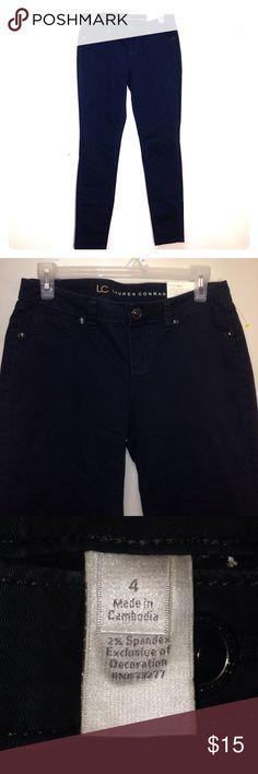 Size(4) LAUREN CONRAD PANTS BLUE SUZE (4) LAUREN CONRAD PANTS NWT NO DEFECTS 98% COTTON 2% SPANDEX LC Lauren Conrad Pants