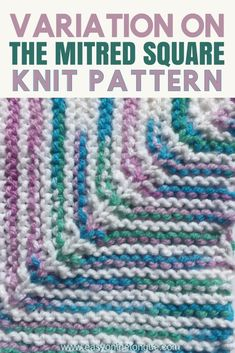 Variation on Easy & Quick Knit Square – Free Pattern Two colors of yarn. A variation on the knit square pattern will allow you to create a totally diff Knitted Squares Pattern, Knitting Squares, Easy Knitting Patterns, Knitting Stitches, Free Knitting, Knitting Projects, Stitch Patterns, Knitting Ideas, Loom Knitting