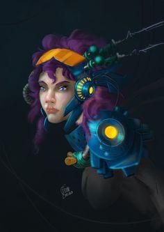 Random sci-fi girl