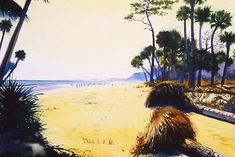 "Hunting Island I, 12 x 16"" watercolor, by John Hulsey"