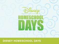 Disney Homeschool Days with MAJOR discounts on tickets and your kids take really cool classes. Now THIS is great!! Dates available September, October, January and February... LOVE IT! Homeschool Days here we COME! Thanks SO MUCH for the tip Amie!