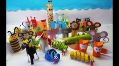 ⭐️KREATÍV⭐️Állatok papírgurigából🐭🦊🦁🐵🐥 Bowser, Play, Youtube, Fun, Kids, Fictional Characters, Young Children, Boys, Children