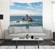 Pacific Northwest Wall Tapestry, Beach Decor, California Tapestry, Seashore Wall Tapestry, California Coast, Crashing Waves, Beach Tapestry by LostInNature on Etsy https://www.etsy.com/listing/473251317/pacific-northwest-wall-tapestry-beach